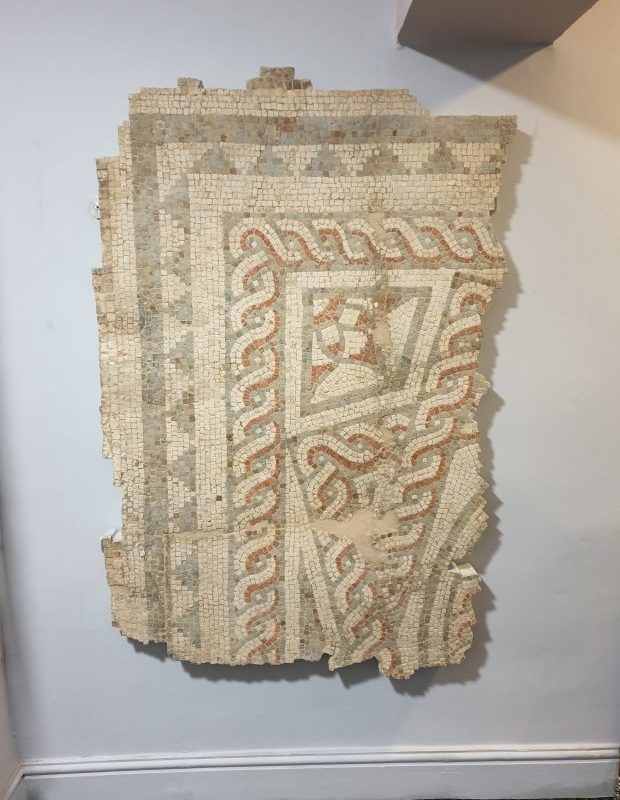 Mosaic fragment from Borough Hill