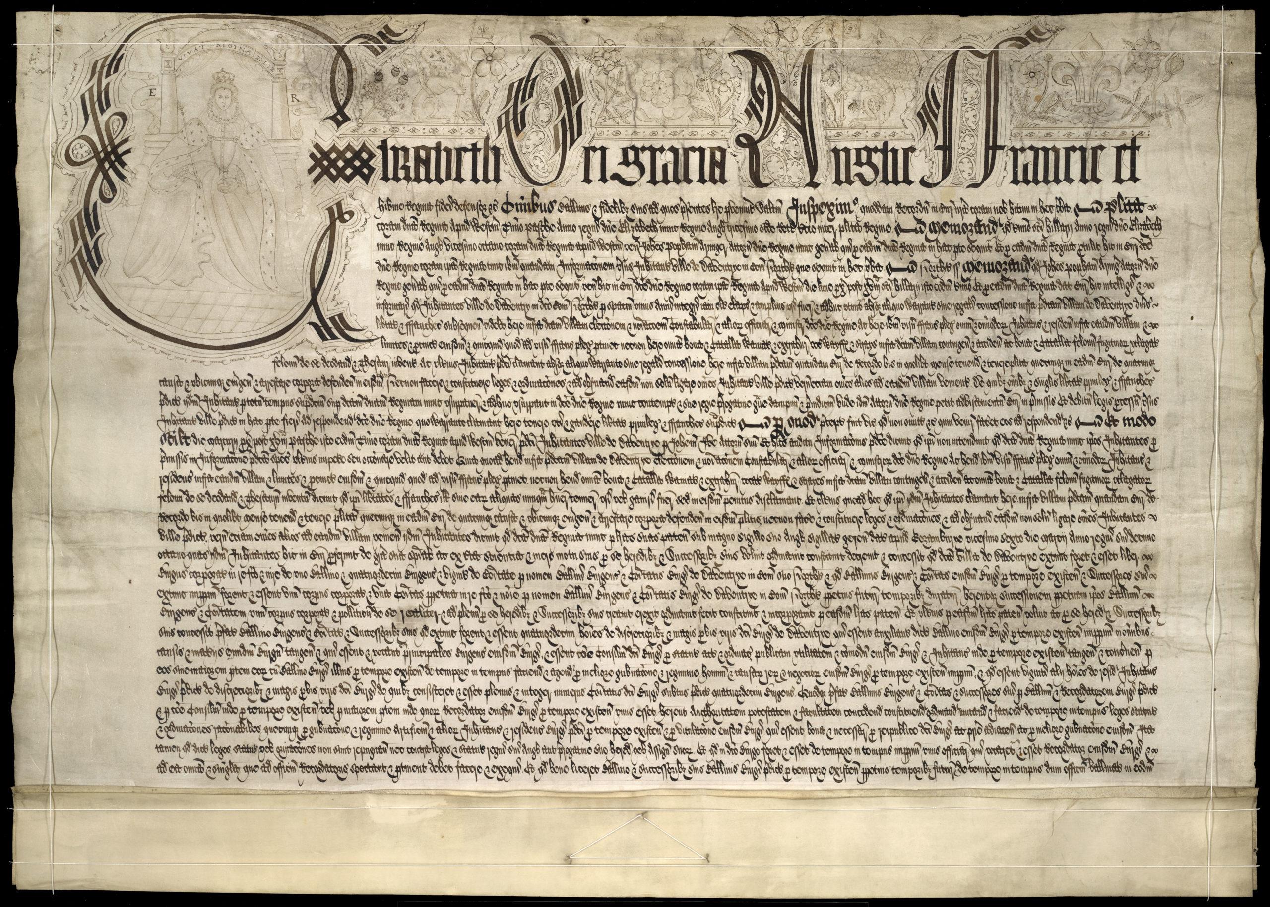 Queen Elizabeth I Town Charter of 1590