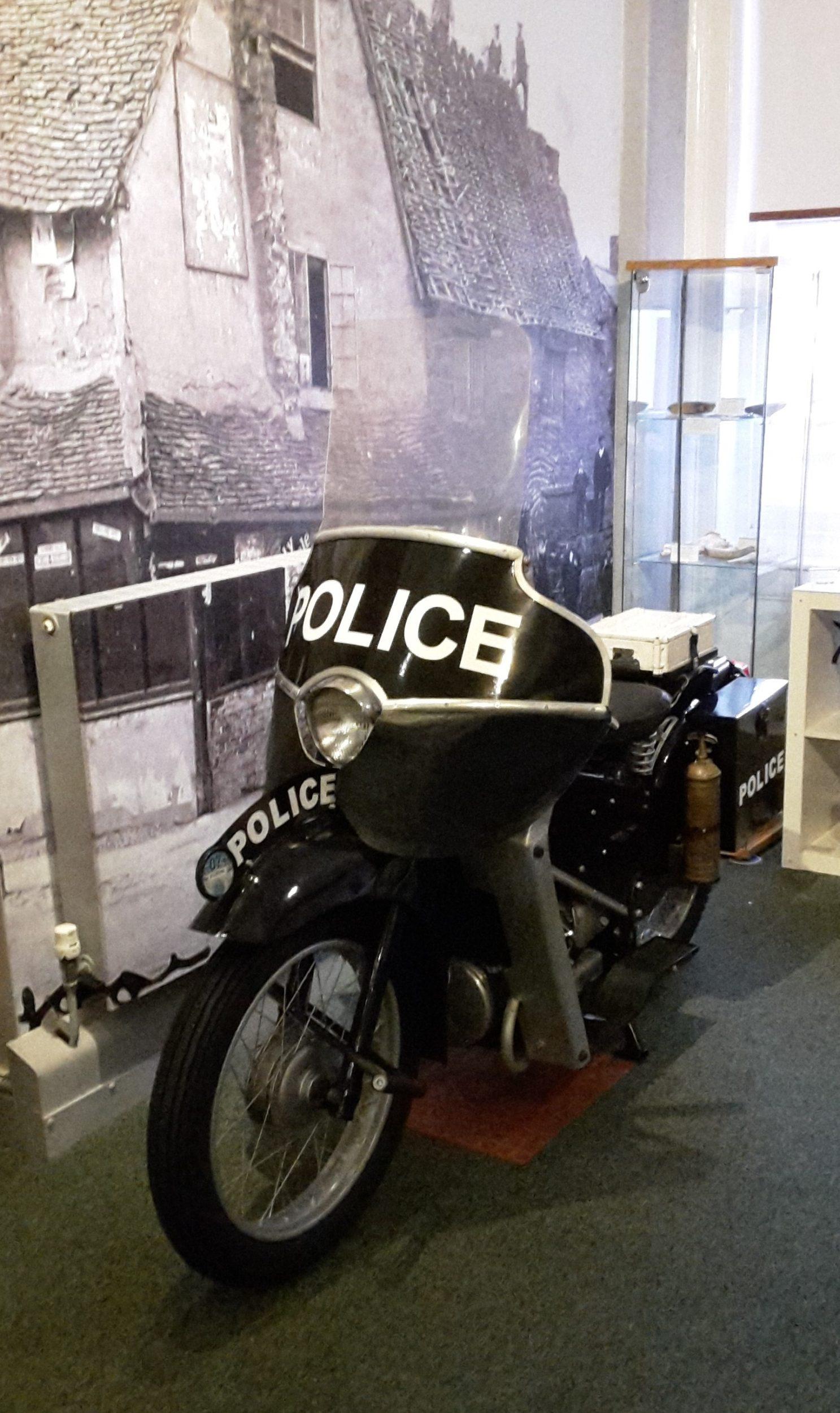 Image of Noddy Motorbike belonging to former Policeman Ian Sharp.