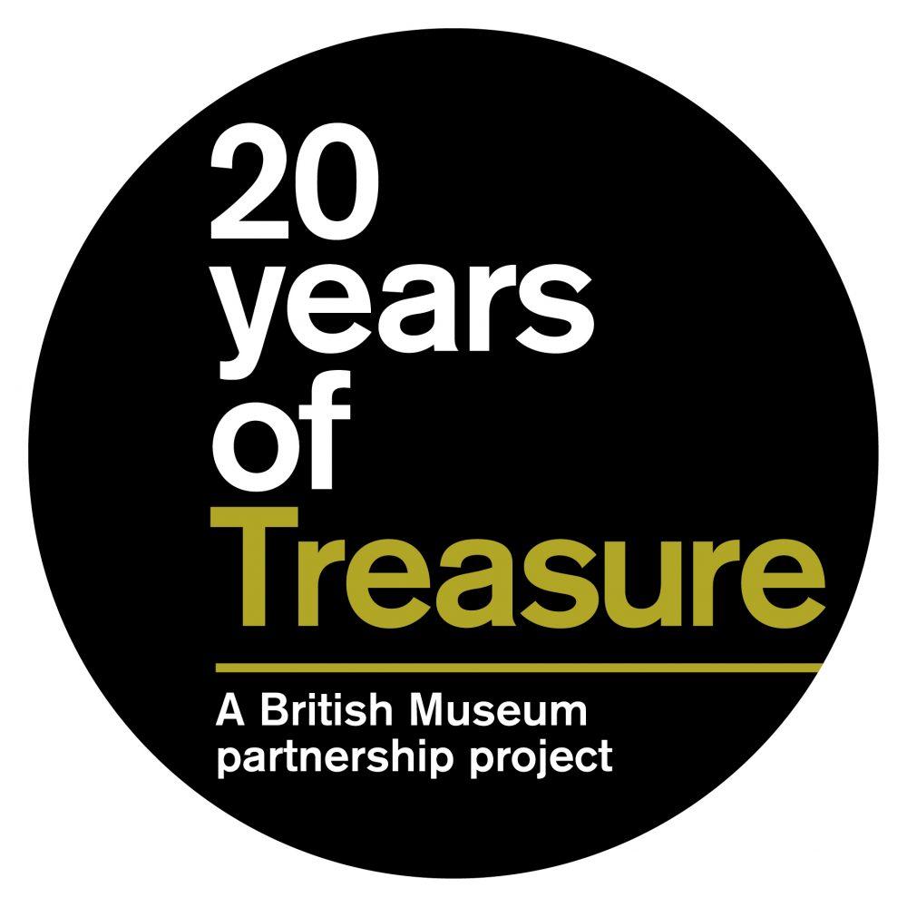 20 years of treasure logo.