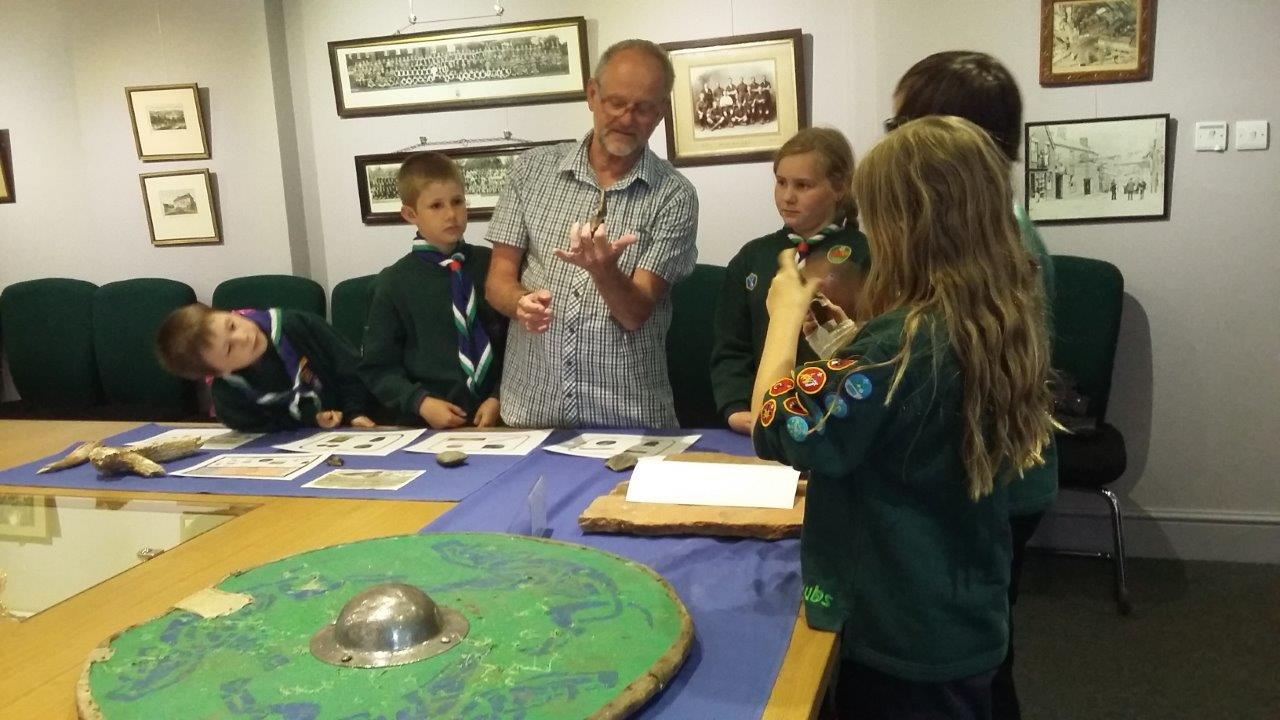 Cub Scouts hands-on visit to the museum