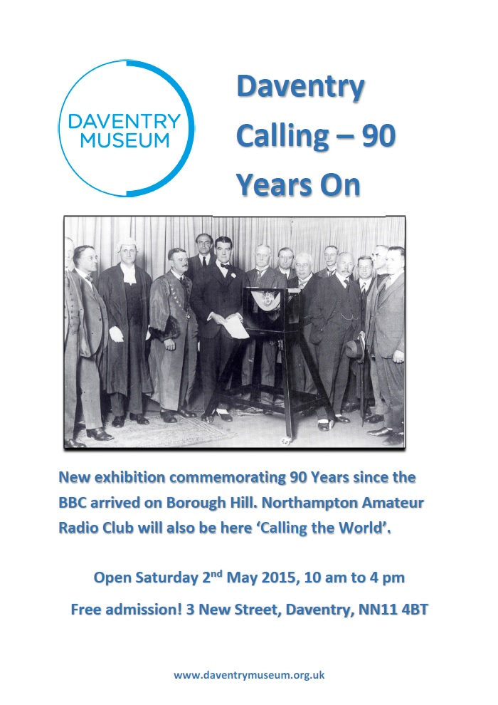 Daventry Calling - 90 years on poster