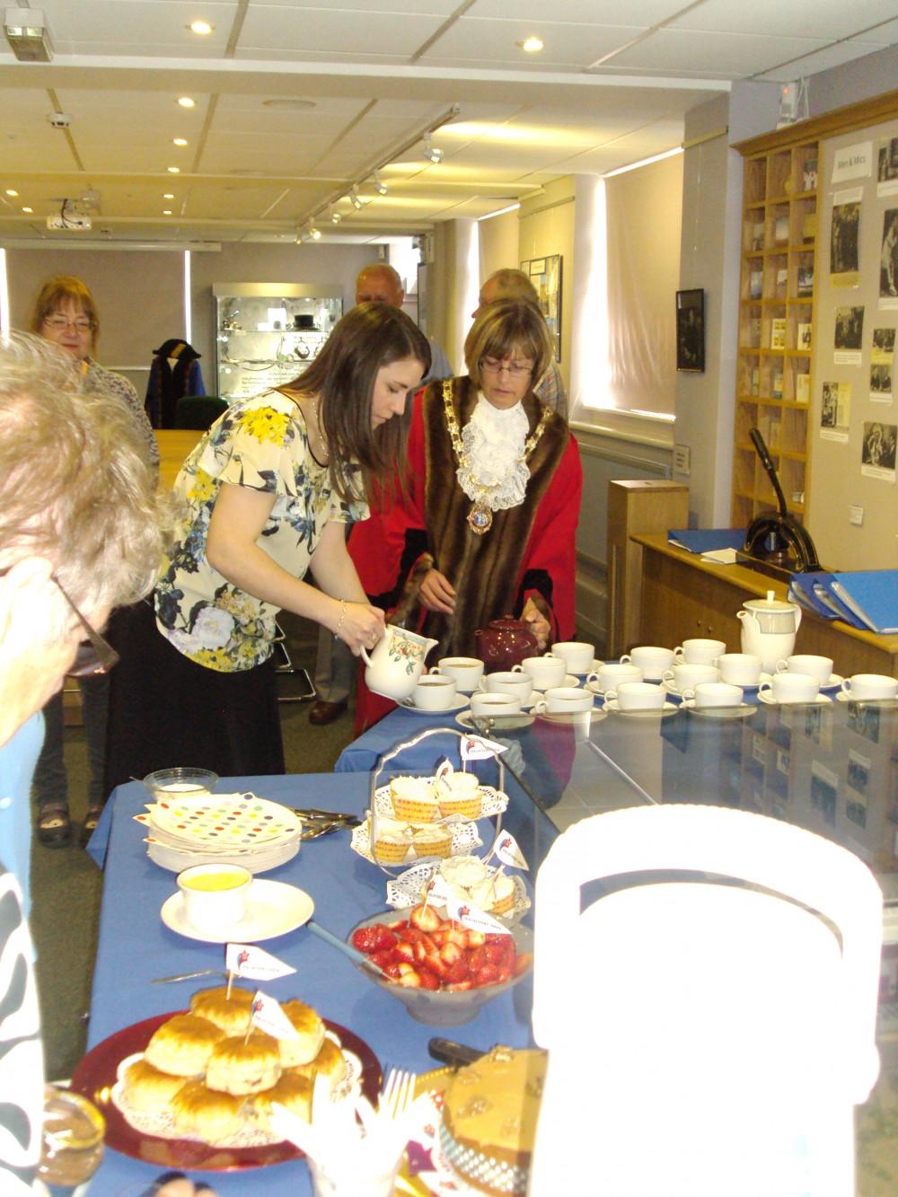 Volunteers at Daventry Museum enjoying tea