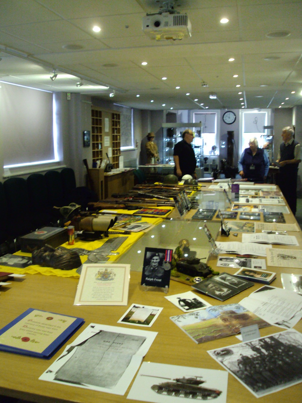 Gerry Thompson's vast research (on the right of table)