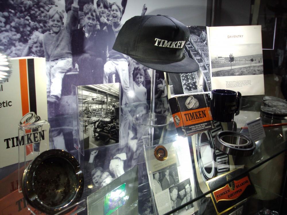 Display on British Timken memorabilia