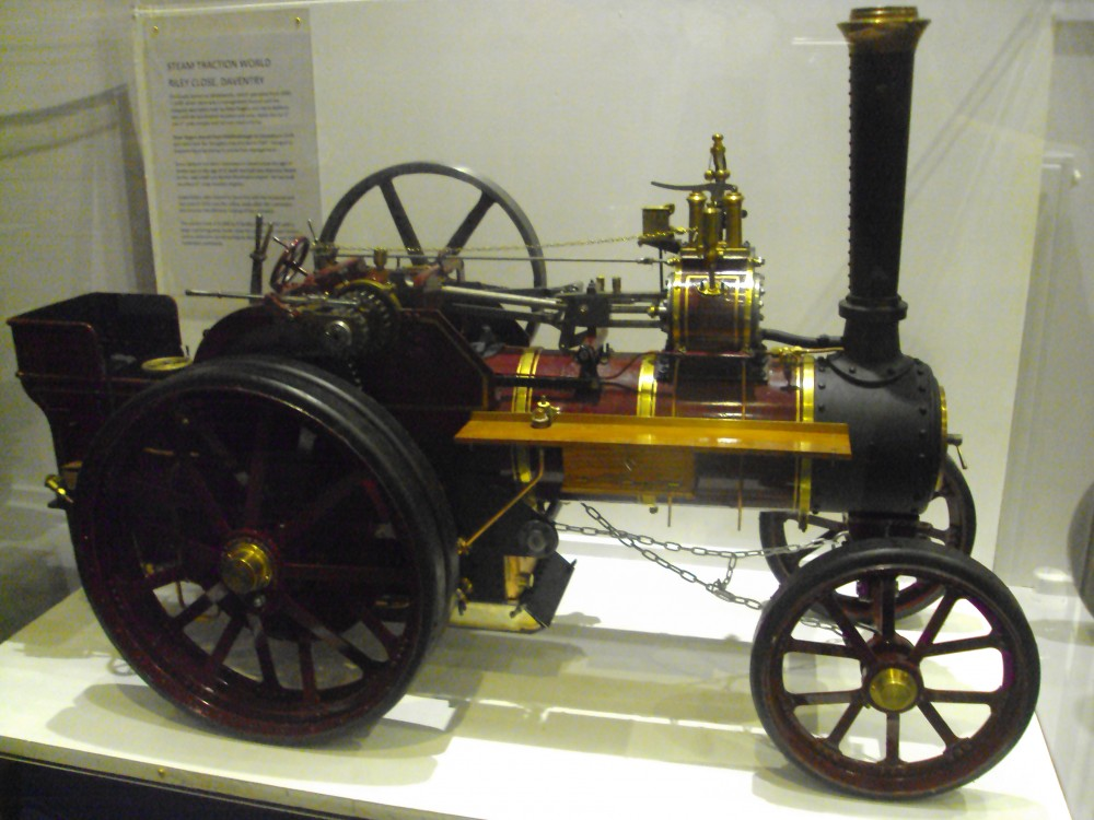 Burrel Traction Engine. One-sixth scale model of an agricultural steam engine.