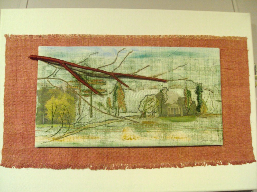 Textiles creation of landscapes for exhibition.