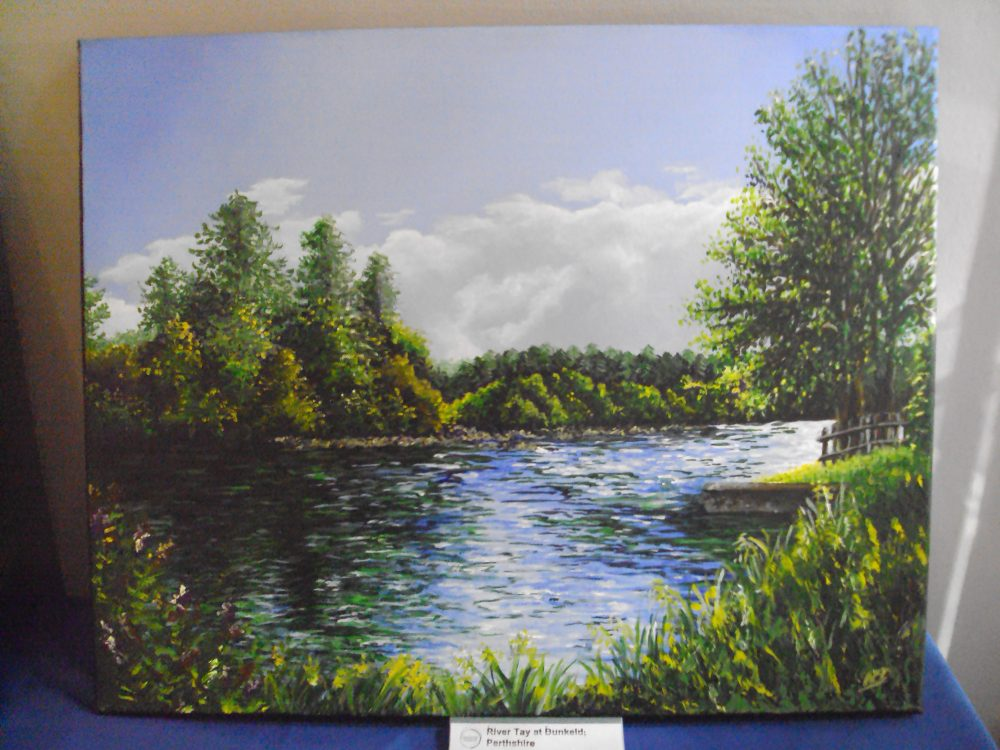 Painting of a landscape by Alison Drane.