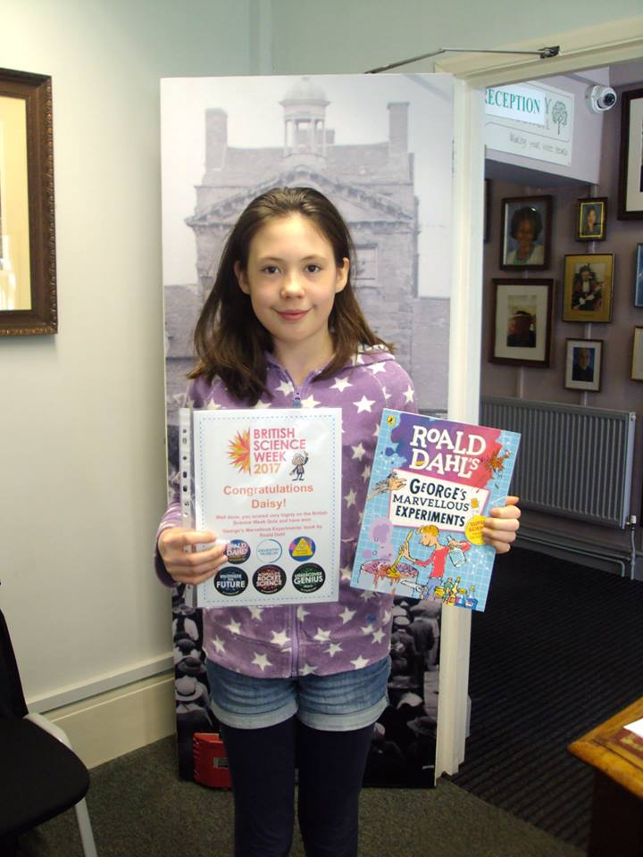 Competition winner Daisy from 2017