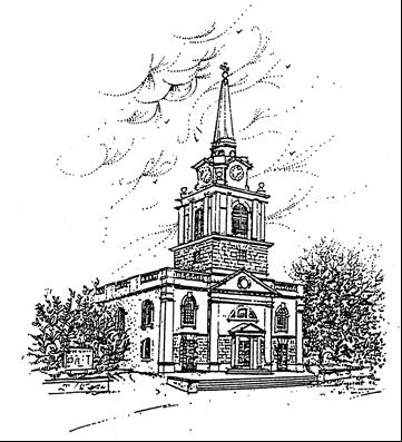 Sketch of Daventry Holy Cross Church.