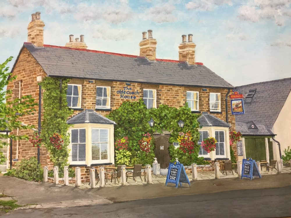 'The Olde Coach House', an oil painting by Ralph Davies.