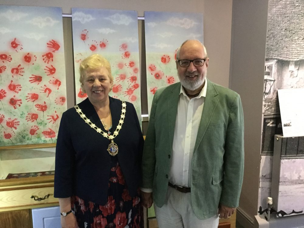 Mayor of Daventry, Cllr Lynn Jones and consort Alan Jones