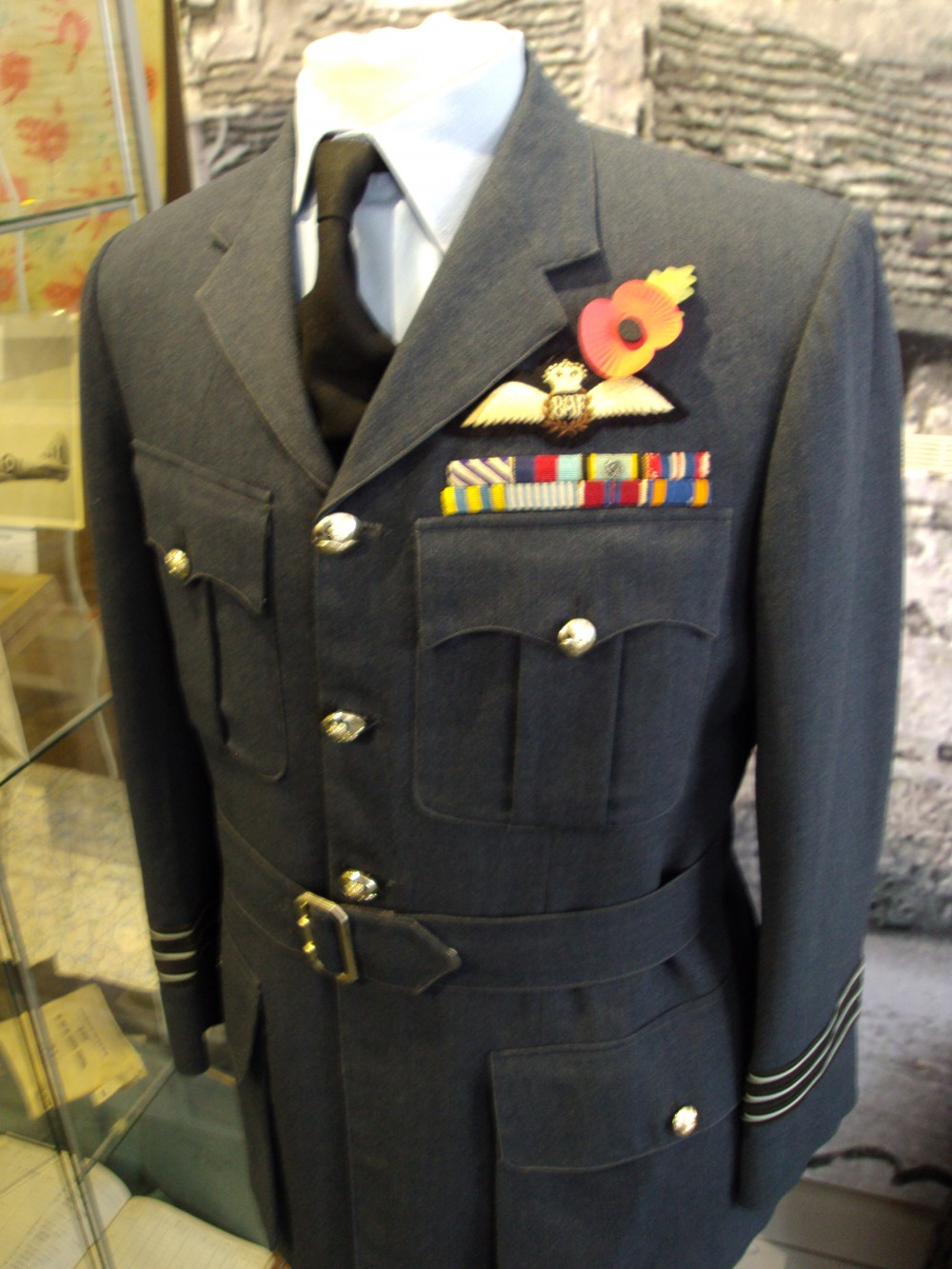 RAF Uniform of Wing Commander Brian J Spragg DFC of Daventry