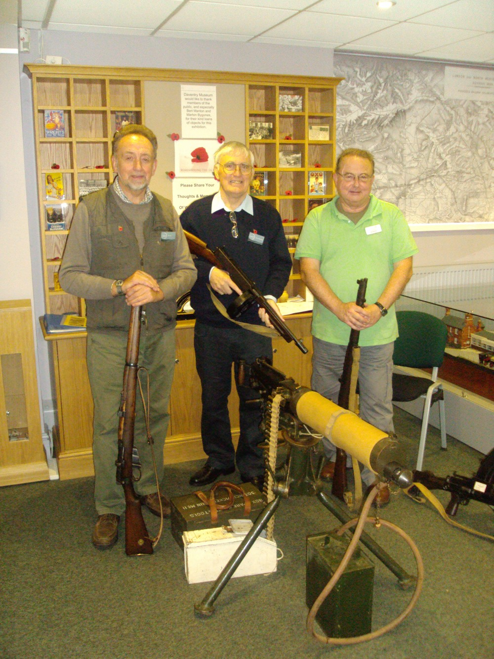 Exhibitors Mike Hill, Gerry Thompson & Cllr Ted Nicholl