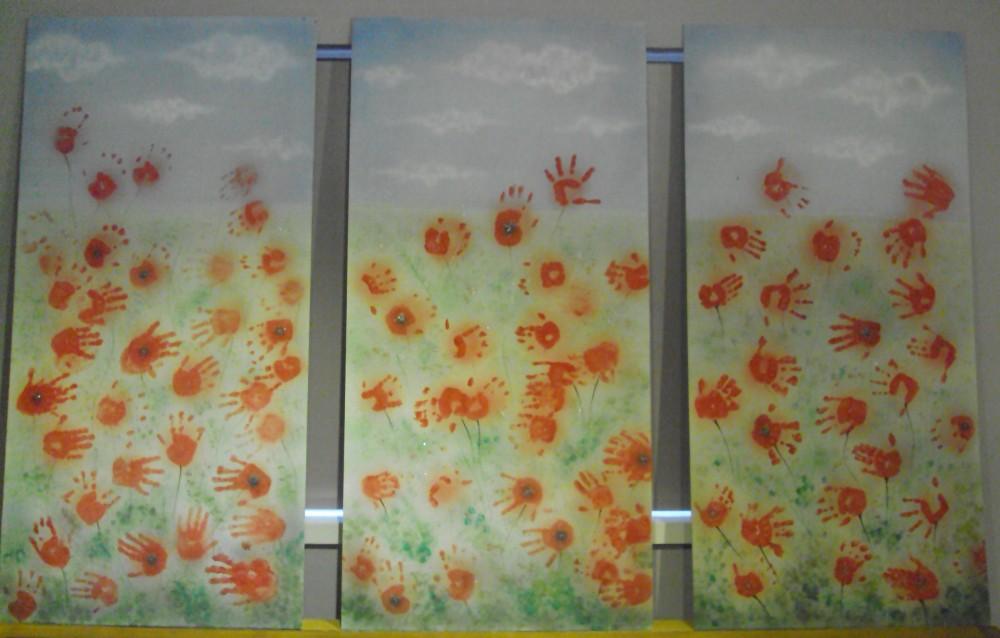 Poppy Fields artwork by Daventry nursery children – on display in the Museum