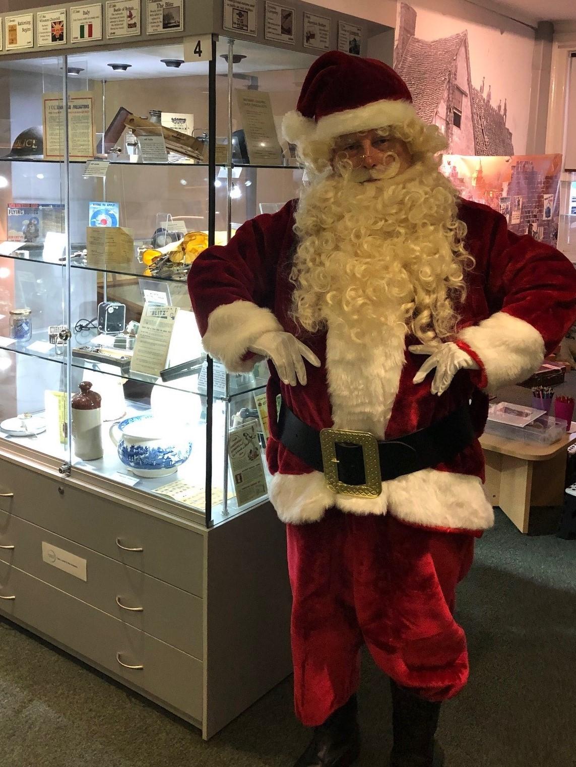 Man in Santa costume.