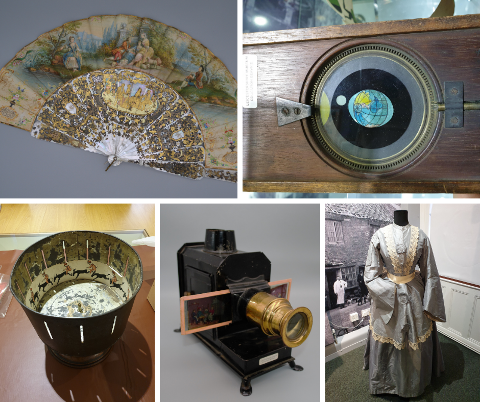 Photo of 5 Victorian objects in the exhibition.