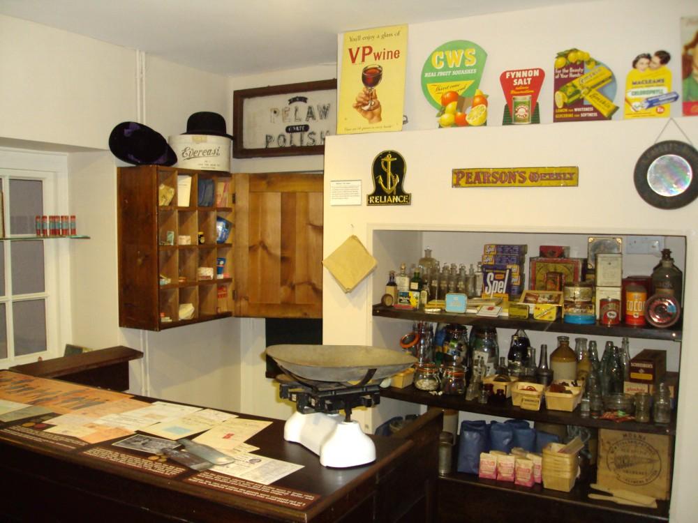Old museum shop display