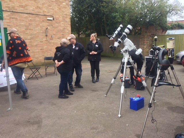 Astronomy For Fun with their scopes preparing for some solar viewing