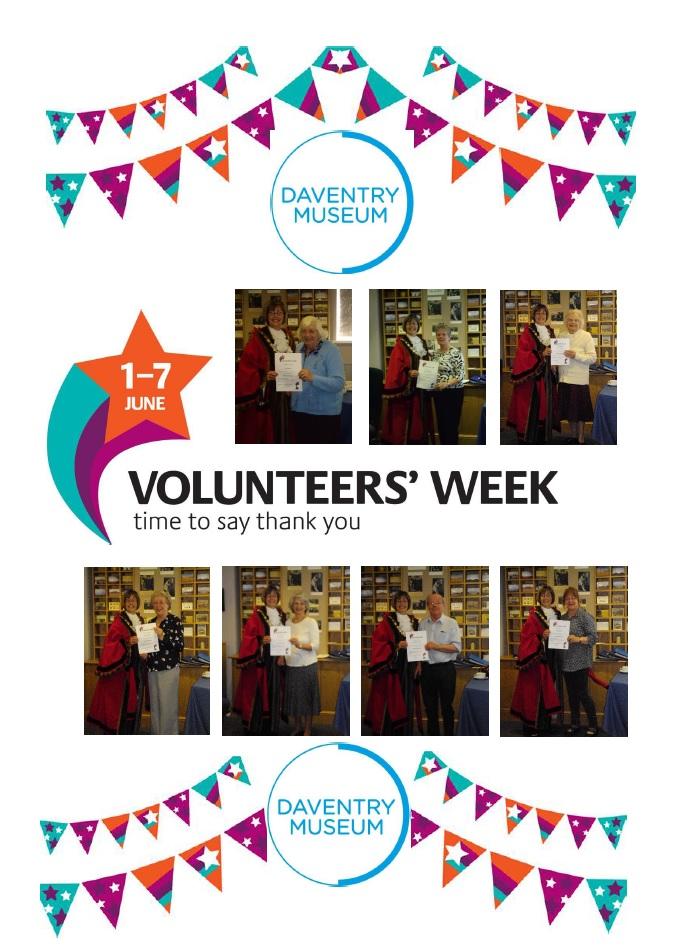 Daventry Museum Volunteers' Week poster
