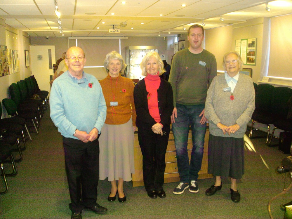 Volunteer Stewards, from left: Rod, Rita, Helen, Jamie & Gwen