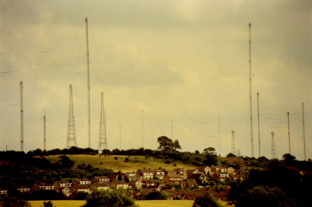 Image of Daventry showing the expansion of radio towers.