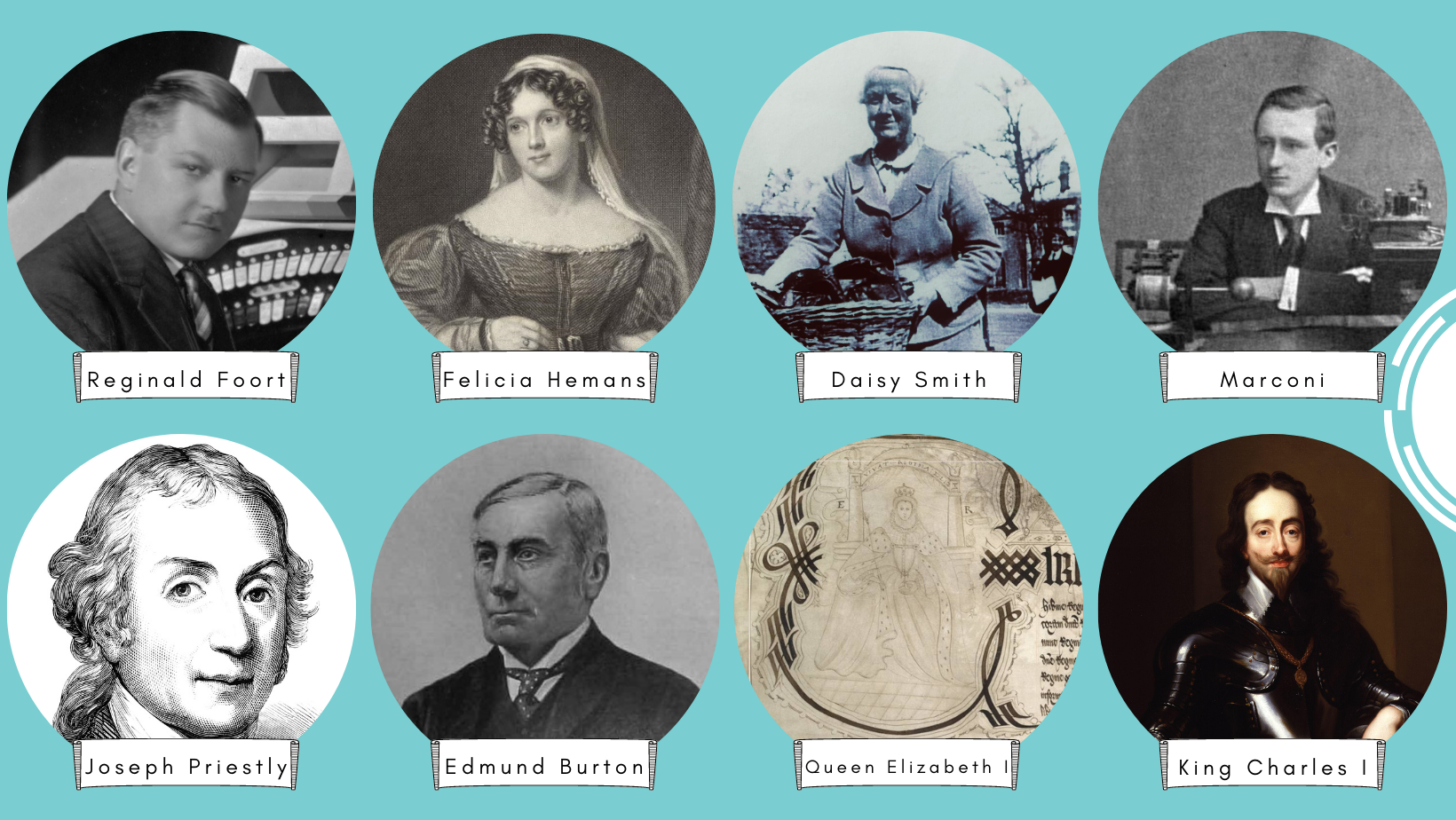 A few of the well-known people associated with Daventry